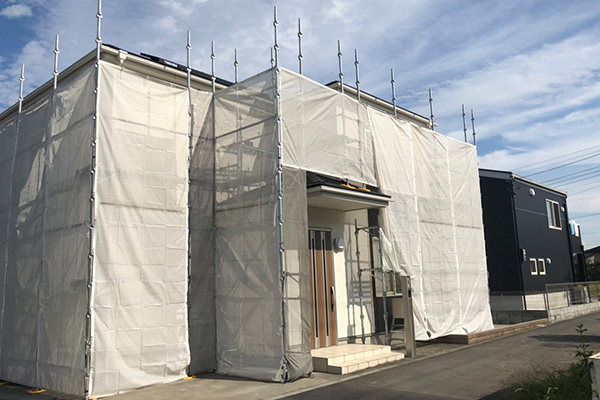 外壁の工事